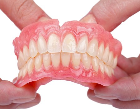 Closeup of full dentures