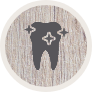 Animated tooth with spaarkles icon